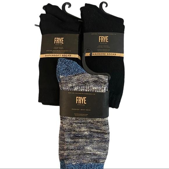 FRYE FLASH BLACK FRI SALE 6 Pair Socks Cashmere